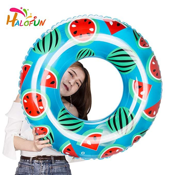 Halofun Automatic Inflatable Swimming Ring 31 5 Inches Tube Pool Floats For Adults 80cm Review Pool Floats For Adults Pool Floats Pool