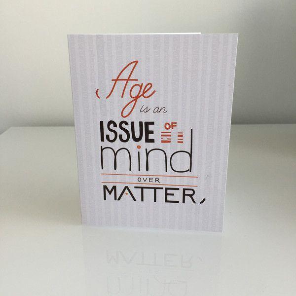 Mind Over Matter Birthday Card