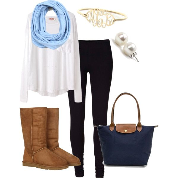 5. I would wear this to a basketball game. It is usually cold and this looks very comfortable. It's also a dream of mine to go to a UNC Heels game.