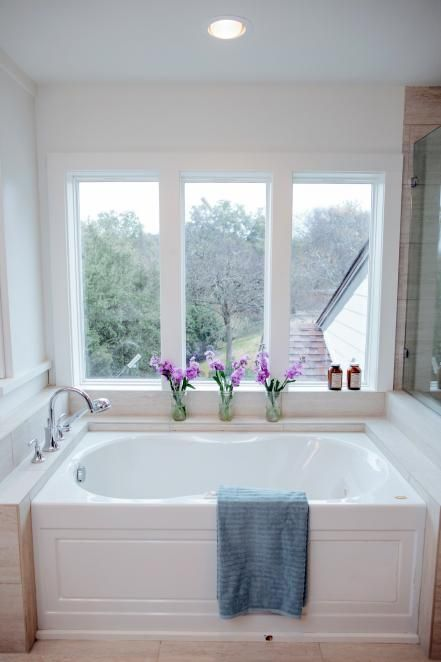 Gallery For Website Fixer Upper Bringing a Modern Coastal Look to a Faceless Bunker Jacuzzi BathroomBathroom