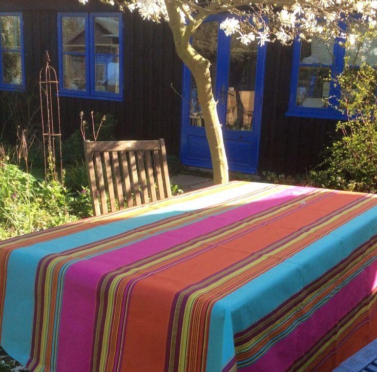 Adour Stripe Extra Wide Acrylic Oilcloth