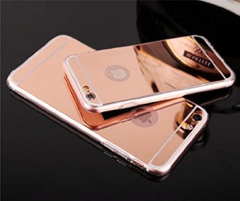 iPhone 6S Rose Gold Mirror Case,iPhone6S Mirror Rose gold Case, Slim Luxury Hybrid Glitter Bling Mirror Soft TPU Cover Case for iPhone 6S,iPhone6(Rose Gold)