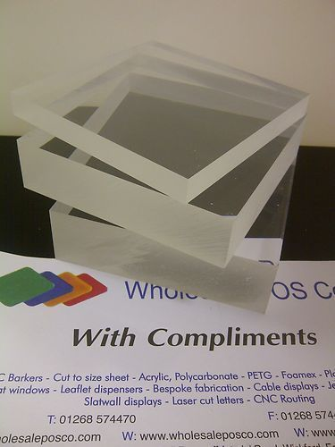 30MM THICK CLEAR ACRYLIC BLOCK CAST PERSPEX SHEET 210MM X 148MM A5 HEAVY SHEET | eBay