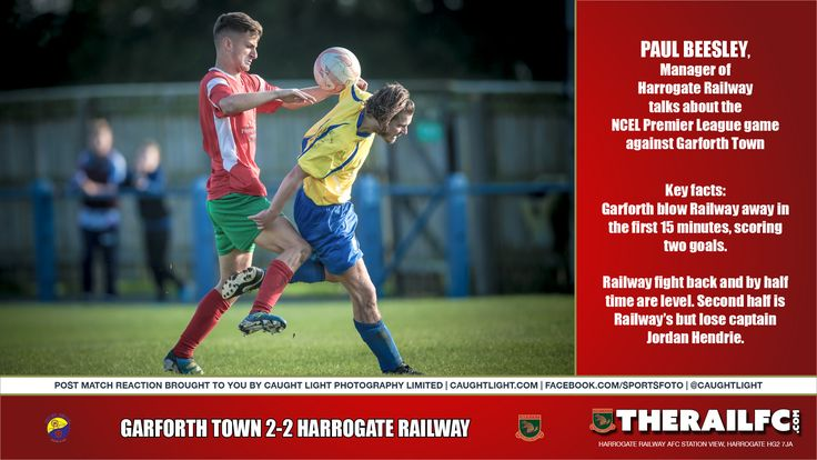 Garforth Town reaction by Manager Paul Beesley        @therailfc @TheGarforthTown @Howell_rm