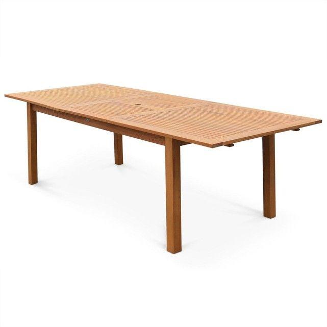 Table de jardin en bois Almeria 180-240cm rectangulaire avec allonge eucalyptus ALICE S GARDEN : prix, avis & notation, livraison. TABLE DE JARDIN RECTANGULAIRE ALMERIA EN BOIS EUCALYPTUS FSC, 8 à 10 PERSONNES 1,8 à 2,4m !Cette collection de mobilier de jardin en Eucalyptus FSC associe qualité et petit prix.La table Almeria est grande, rectangulaire, en bois exotique d'extérieur. Elle est dotée d?une rallonge papillon de 60cm pour pass...