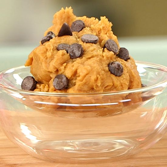 An Easy Recipe For Vegan Cookie Dough — Only 5 Ingredients Needed! Not for cooking, just eating! High in fiber and protein!