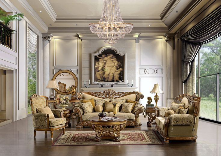 Florentine Sofa Loveseat And Chair World Of Decor Living Room Sofa Set Luxury Living Room Living Room Sets Furniture