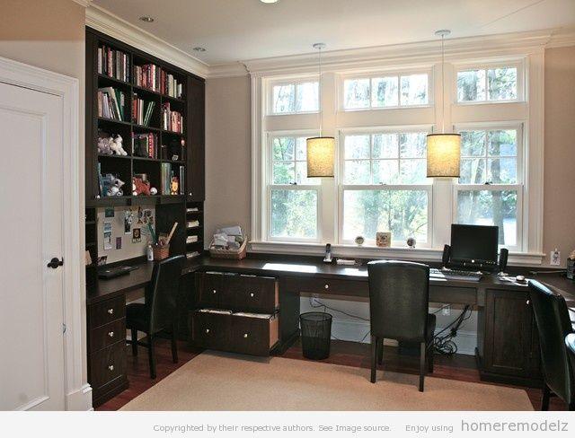 Black home office furniture sets