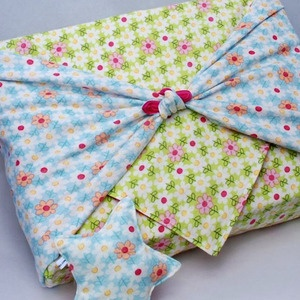 baby blankets as gift wrap: Body Pillows, Flannels Wraps, Gifts Ideas, Gifts Wraps Sustainability, Fun Projects, Baby Blankets, Beans Bags, Gardens, Comforter