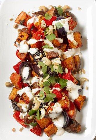 Roasted Kumara and Cashew Salad
