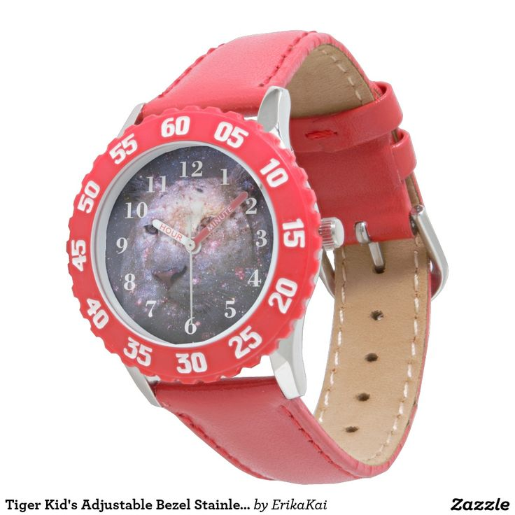 Tiger Kid's Adjustable Bezel Stainless Steel Watch