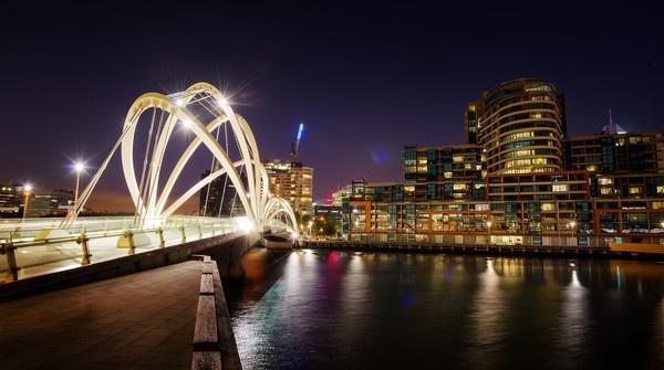 modern bridge, Melbourne, AU