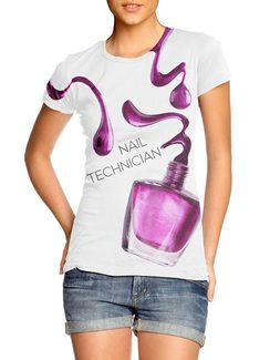 Nail Tech Gift Spilled Polish T Shirt