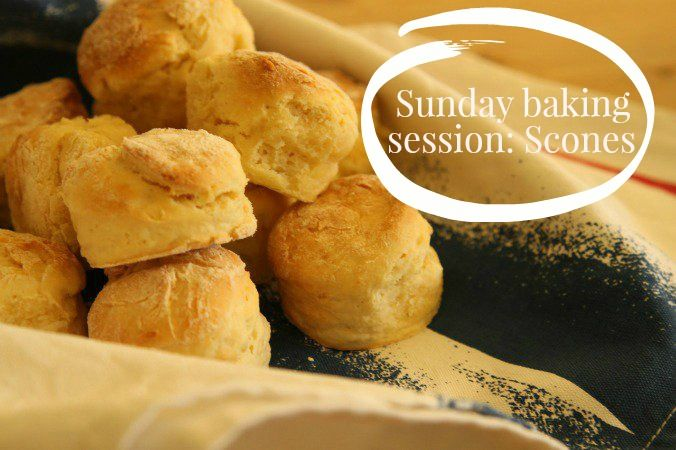 Perfect quick baking session: SCONES