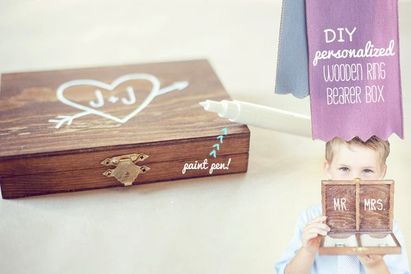 OMG LOVE | DIY Personalized Wooden Ring Bearer Box with a Vintage Finish! | By DIY Bloggista Renee | The Knotty Bride™ Wedding Blog + Wedding Vendor Guide