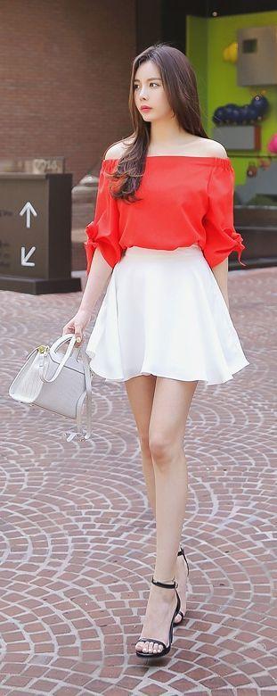 Luxe Asian Women Design Korean Model Fashion Style Dress Luxe Asian Women… #KoreanFashion