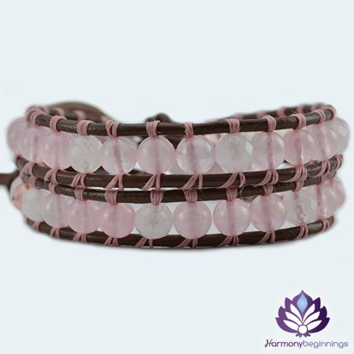 TheLove wrap bracelet has been designed with Brazil Rose Quartz Gemstones and Swarovski Crystals. The ultimate LOVE bracelet. This bracelet is the perfect companion to our Love Necklaceand they look wonderful worn together. Created to help you open your heart. Rose Quartzis the stone of unconditionalLoveand infinitePeace.It is the ...