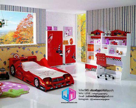 Set kamar tidur anak karakter mobil