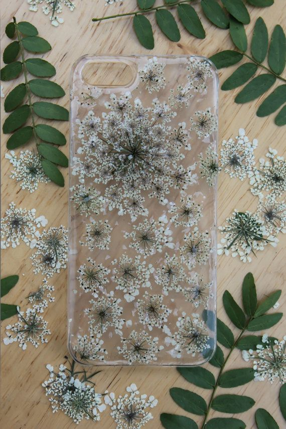 Real Pressed Flower Clear iPhone Case Queen by elbowroomshop, $13.99