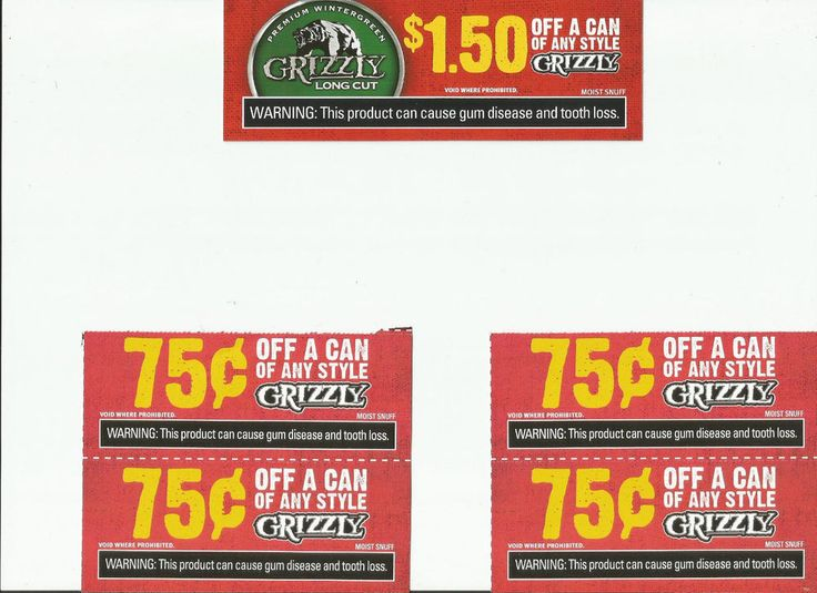 Grizzly tobacco coupons