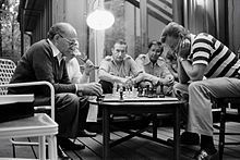 Prime Minister Menachem Begin engages Zbigniew Brzezinski in a game of chess at Camp David, 1978 - http://en.wikipedia.org