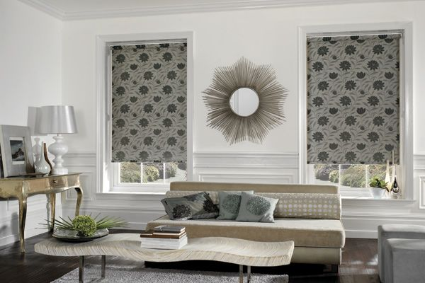 Roller Shade Dahlia Blackout Blinds For Windows   Window Shades and Blinds Vs Curtains and Draperies