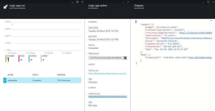 Azure App Service - Logic App Execution results