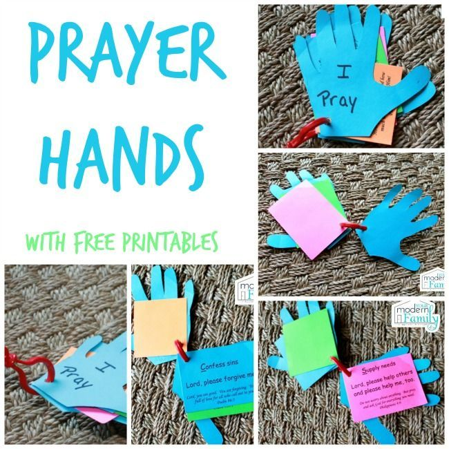prayer hands craft - adaptation: instead of using ACTS cards, use prayer requests for missionaries to remind kids to pray for missions/the world