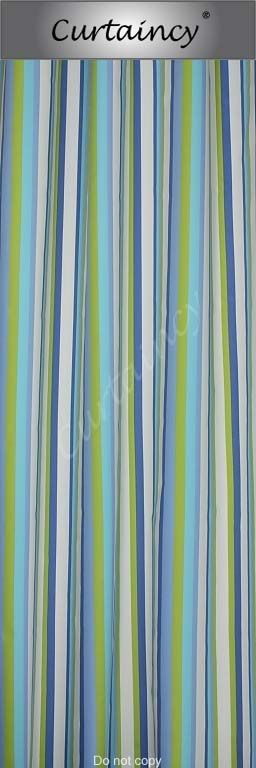 Streep blauw lime turquoise