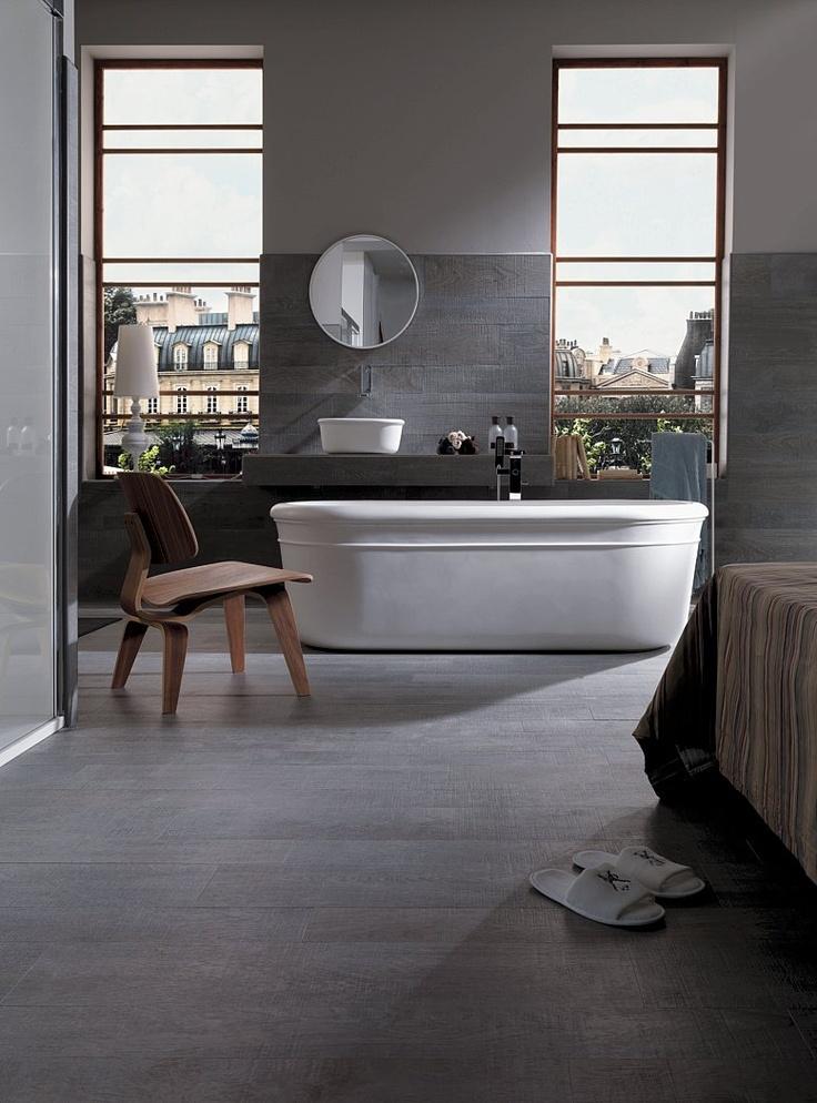Porcelanosa 39 oxford silver 39 timber tile grained for Porcelanosa bathroom floor tiles