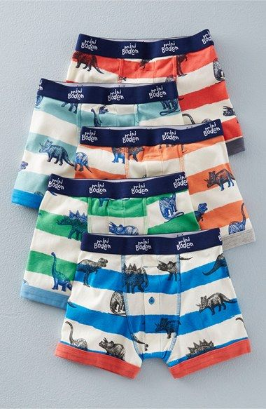 Mini Boden Print Boxer Briefs (5-Pack) (Toddler Boys & Little Boys)