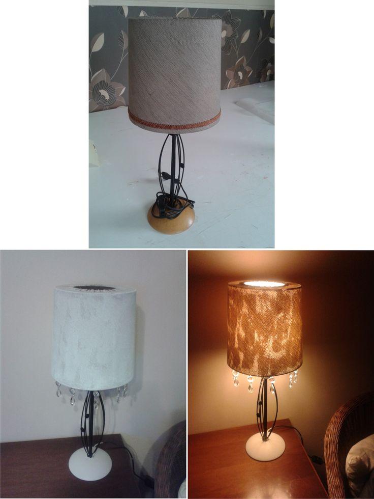 Lamp, crystals, shabby