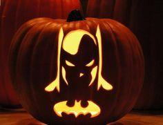 Batman pumpkin carving design   Look around!