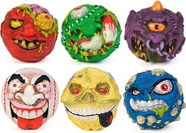Made by: AmToy (1985–early '90s)These baseball-sized toys incorporated the gross-out humor of the very popular Garbage Pail Kids. The toys led to both a tie-in comic book and short-lived Saturday morning cartoon. Fun fact: Starting with series 2, Madballs were made using a softer foam. The change was made following complaints from the parents of children who had been injured after being struck with the semi-hard rubber balls.