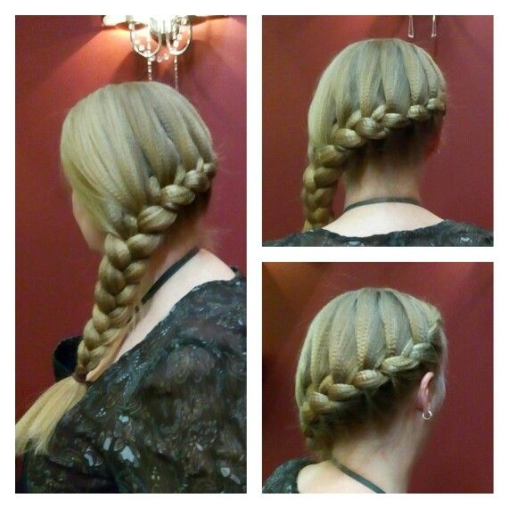 Side french braid by Katie