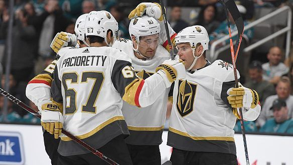 Golden Knights Even Series With Sharks On Night Of Wild Swings Nbc Sports Golden Knights Blue Jacket Golden Knights Hockey
