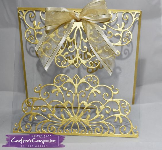 Tent Fold card made using Crafter's Companion Die'sire Decorative Create a Card – Elizabeth. Designed by Rachel Webber #crafterscompanion