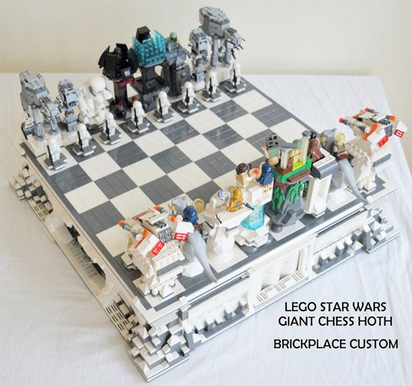 Custom Star Wars LEGO Hoth Chess Set: Rogue Leader, Check!     Dude! I want it!!