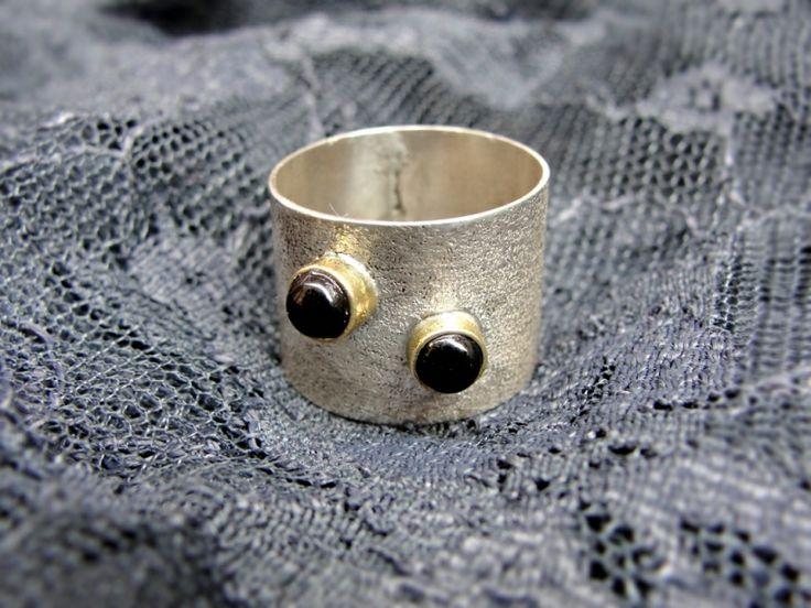 """Designr jewelry. Bijuterie de autor - Inel """"Black Ellegance"""""""