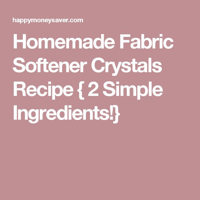 Homemade Fabric Softener Crystals Recipe { 2 Simple Ingredients!}