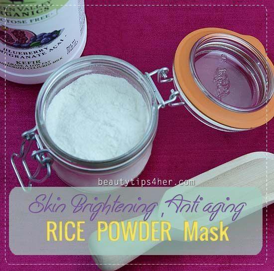 Rice Powder: An Asian Skin Whitening Secret | DIY Beauty Skincare and Health Tips