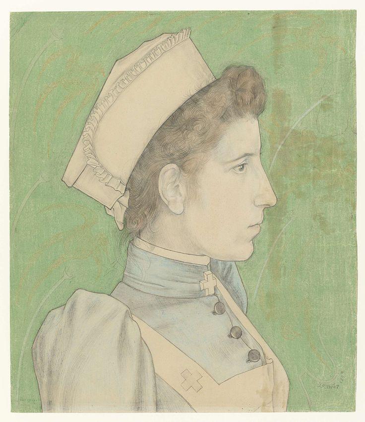 Portrait of Nurse Nelly, Jan Toorop, 1894 @rijksmuseum