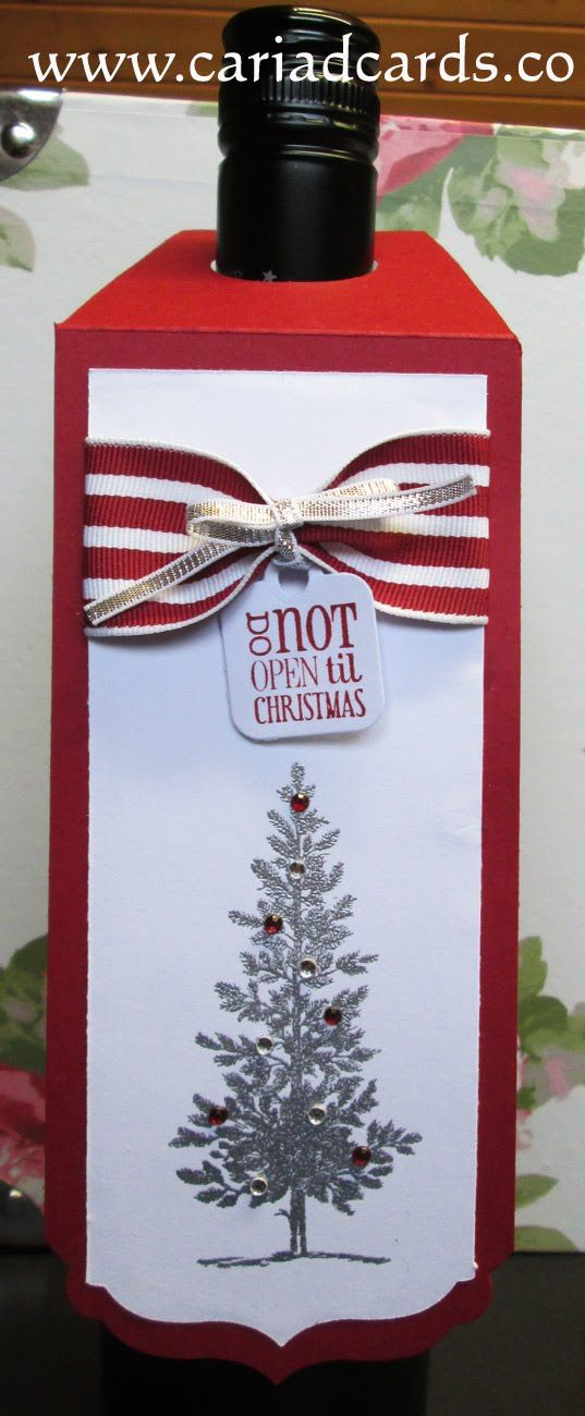 Wine tag topper - handmade