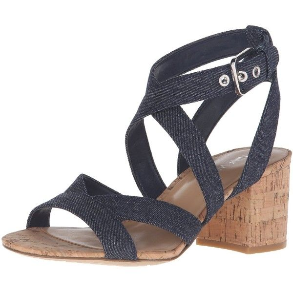 Nine West Women's Greentea Denim Dress Pump ($36) ❤ liked on Polyvore featuring shoes, pumps, nine west shoes, denim shoes, denim footwear, nine west pumps and nine west
