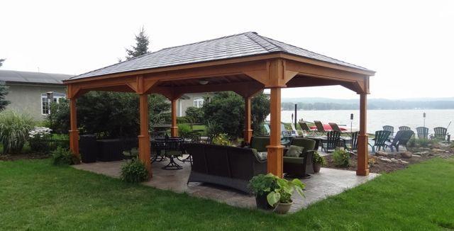 Back Yard Pavilion Plans 20 X 24 14 X 16 Wood Pavilion