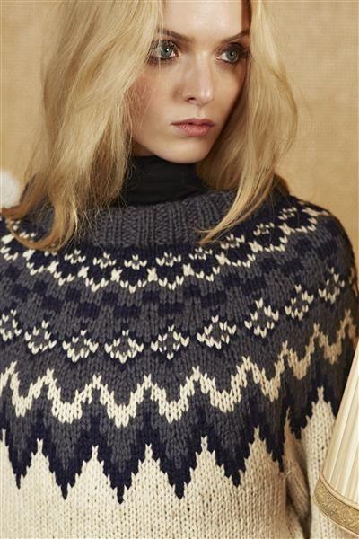 """Tema 39: Modell 7 """"Polarstjerne"""" damegenser #norsk #klassiker #strikk #knit"""