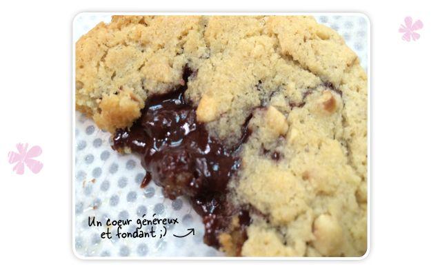 Cookies coeur fondant - recette Michel et Augustin