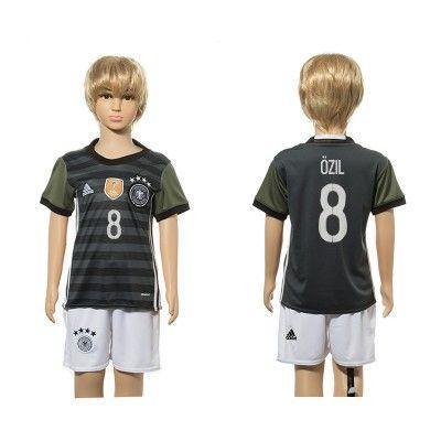 Tyskland Fodboldtøj Børn 2016 Mesut Ozil 8 Udebane Trøje Kortærmet.  http://www.fodboldsports.com/tyskland-fodboldtoj-born-2016-mesut-ozil-8-udebane-troje-kortermet.  #fodboldtrøjer