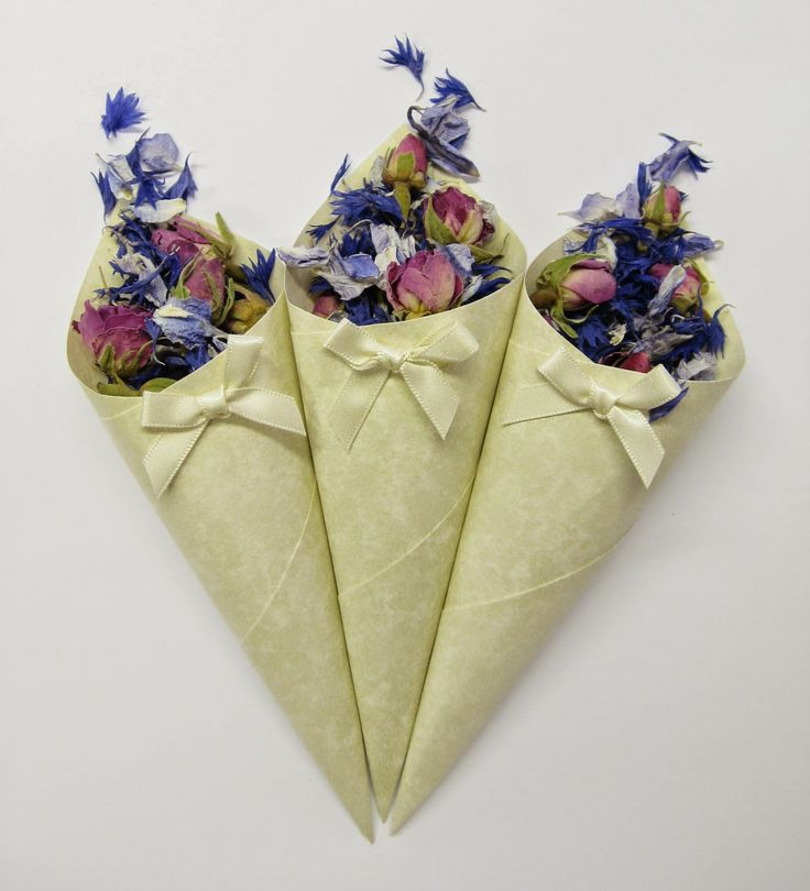 Beautiful Confetti from The Real Flower Petal Confetti Company - Bluebell, Azure Blue and Rose Buds