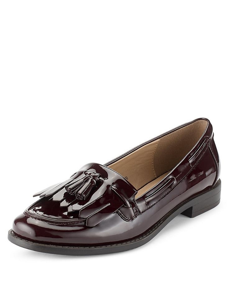 Fringe Trim Tassel Loafers with Insolia Flex®   M&S